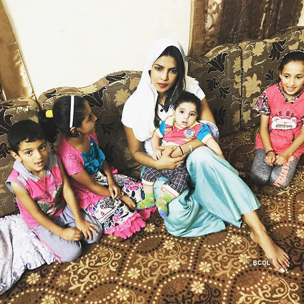 Priyanka Chopra meets Syrian refugee children
