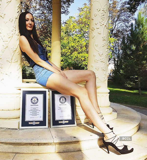 Meet this Russian model who holds Guinness world record for the longest legs