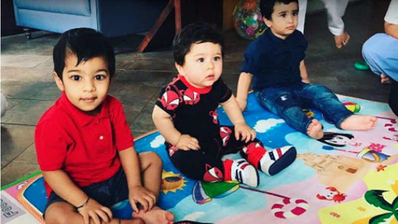 Kareena's son Taimur and Tusshar's son Laksshya enjoy a playdate