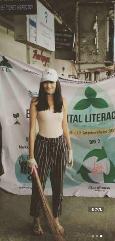 Aradhana Buragohain supports Cleanliness Drive in Bhopal
