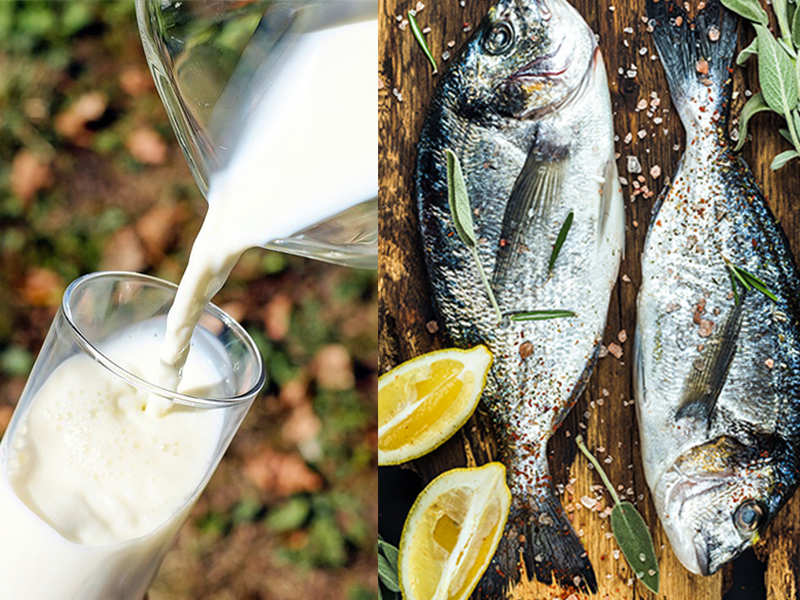 Is it healthy to drink milk after having fish?