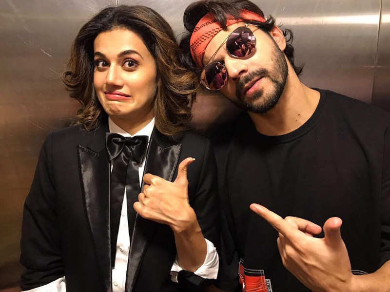 taapsee pannu and varun dhawan enthral kolkata fans during