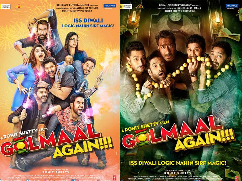 Golmaal Again New Posters Ajay Devgn Tusshar Kapoor Arshad Warsi