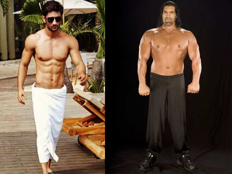 sushant singh rajput to play the great khali in his biopic