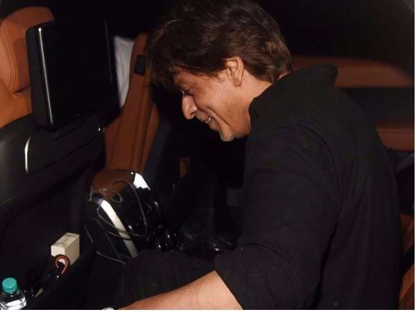 SPOTTED! Shah Rukh Khan outside a recording studio