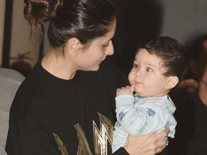 Mommy Kareena Kapoor Khan and baby Taimur's candid picture ...