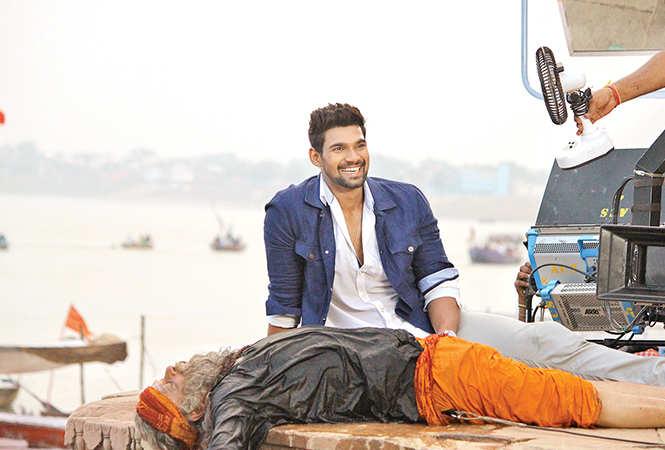 Bellamkonda Sai Srinivas  in a scene  of the film  being shot at Raja Ghat in Varanasi (BCCL/ Arvind Kumar)