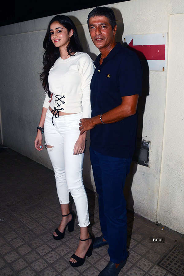 Chunky Pandey and his daughter Ananya Pandey