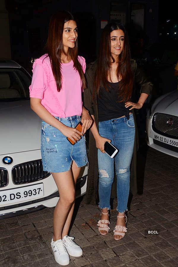 Kriti Sanon and her sister Nupur Sanon