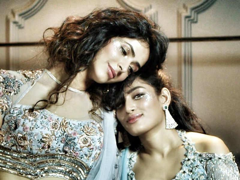 BTS: Pankhuri Gidwani and Naveli Deshmukh shoot for Nivedita Saboo couture