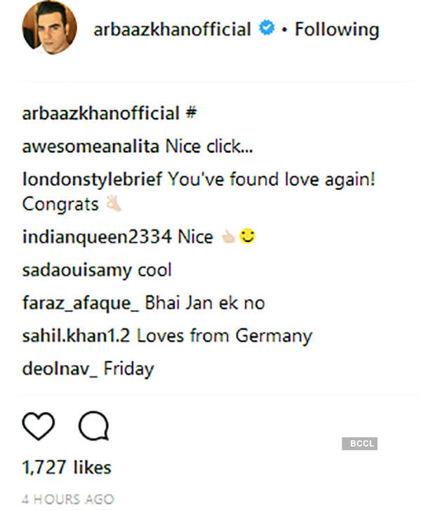 Arbaaz Khan gets trolled for posting picture with a new mystery girl