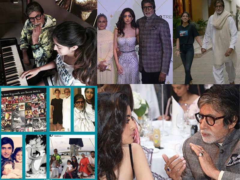Navya Naveli Nanda's pictures with birthday boy Amitabh Bachchan are