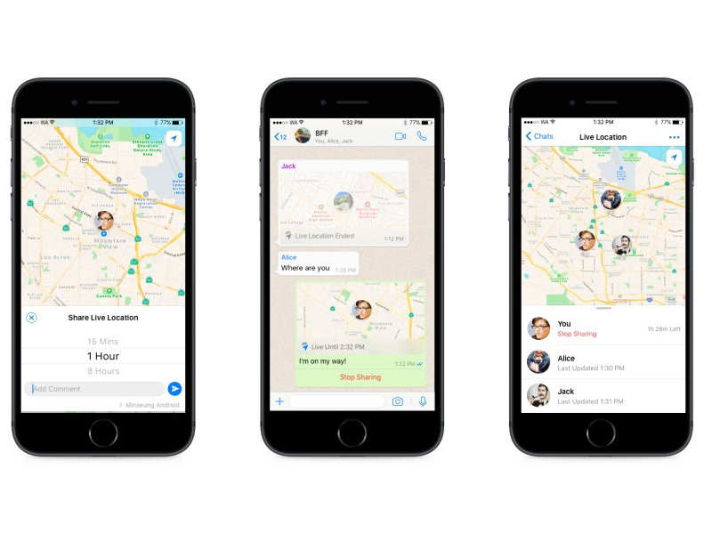 ​ WhatsApp Live Location sharing: 8 most important features