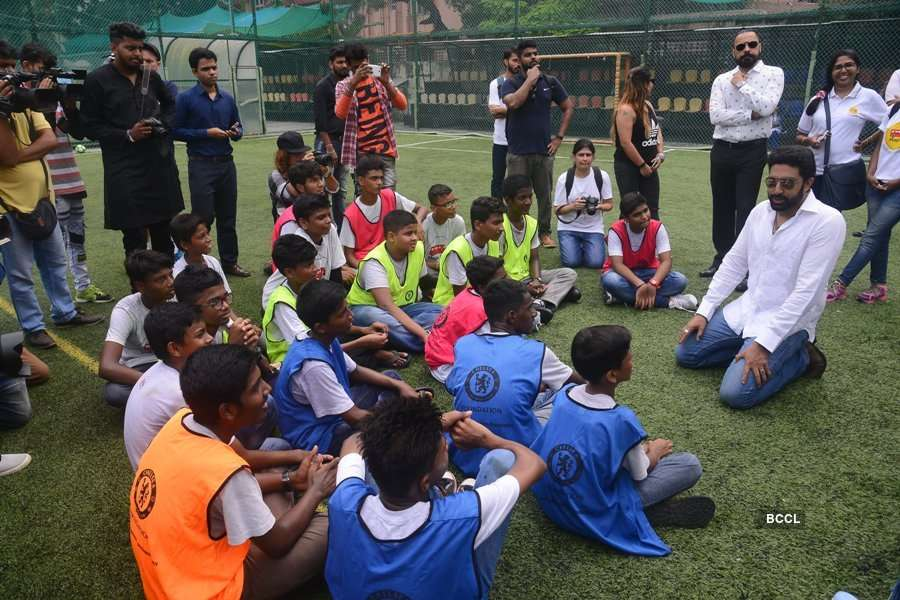 Abhishek Bachchan at the Chelsea Football Club event