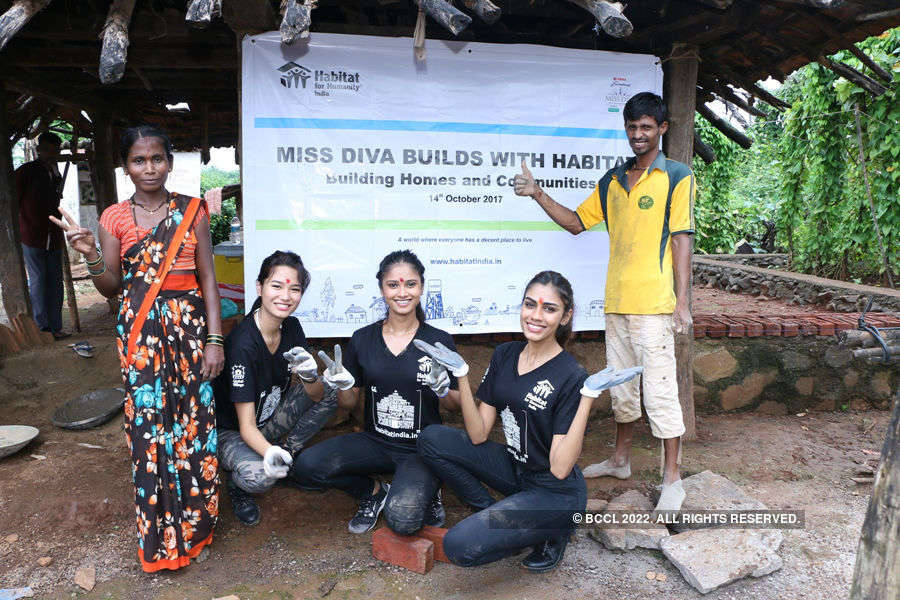 Miss Diva 2017 winners build homes for underpriviliged families of Karjat