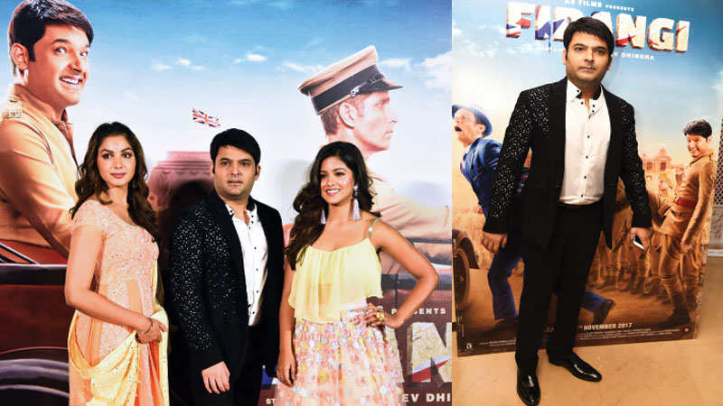 Kapil Sharma and cast of 'Firangi' launch trailer of the film