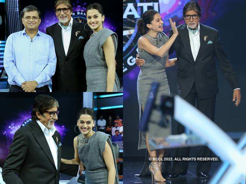 Taapsee paints the town Pink as she plays KBC 9 with Amitabh