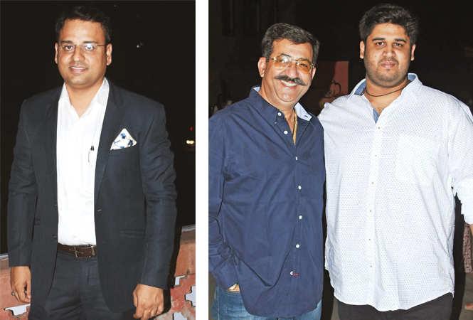 Najaf Rizvi (R) AP Tikku and Arnav (BCCL/ Farhan Ahmad Siddiqui)