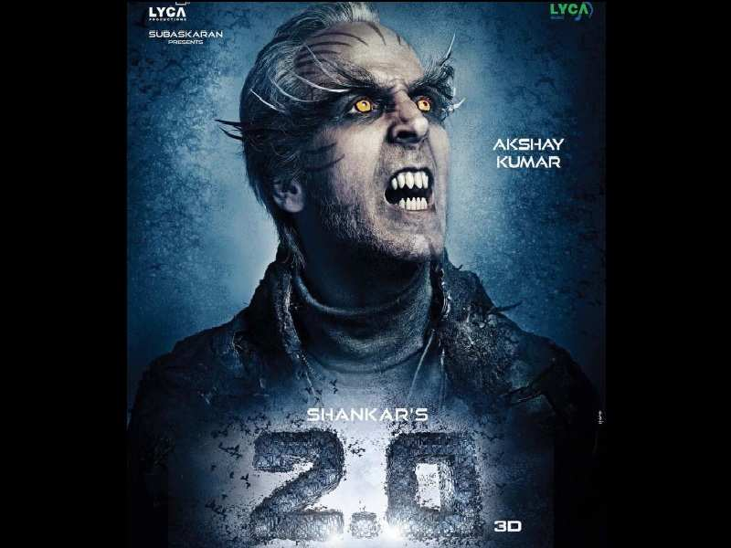 2 0 Poster Akshay Kumar Looks Wrathful In His Fiendish Avatar