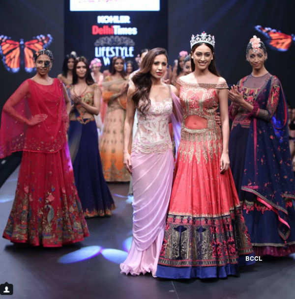 Beauty queens walk the ramp at Delhi Times Lifestyle Week