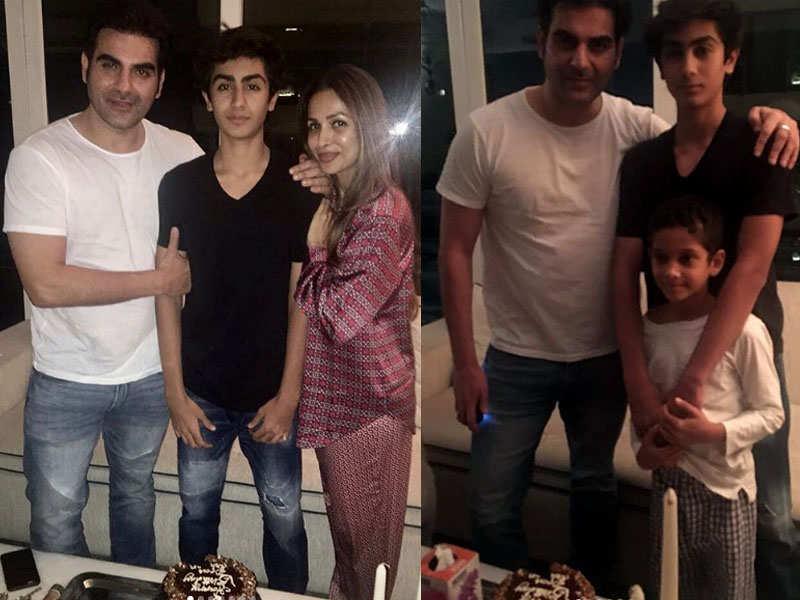 Pic: Malaika Arora and Arbaaz Khan come together for son Arhaan Khan's  birthday