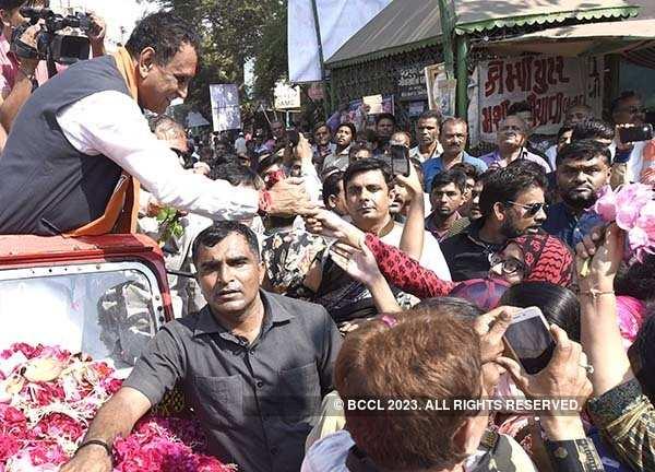 Gujarat CM Vijay Rupani holds roadshow