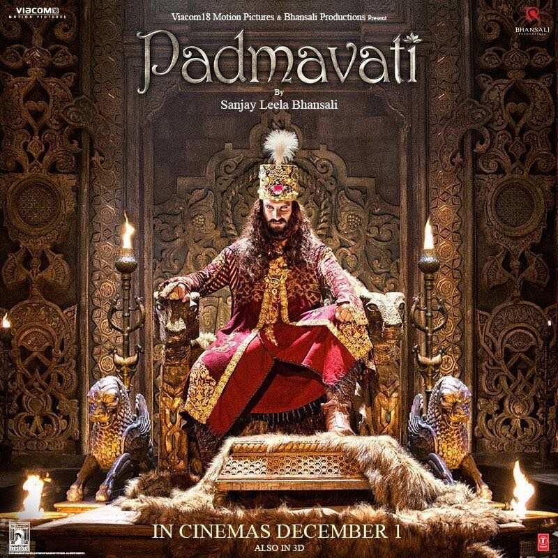 New padmavati poster ranveer singh as the dreaded - Ranveer singh hd wallpaper padmavati ...