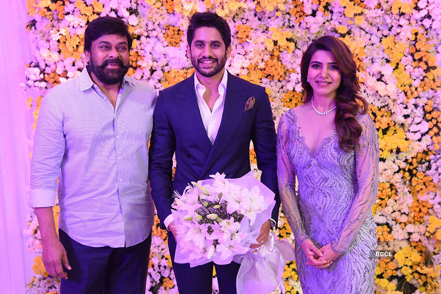 Naga Chaitanya and Samantha Akkineni's starry wedding reception