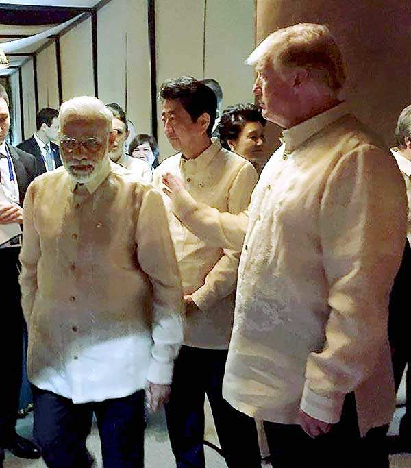 PM Narendra Modi meets world leaders at ASEAN Summit