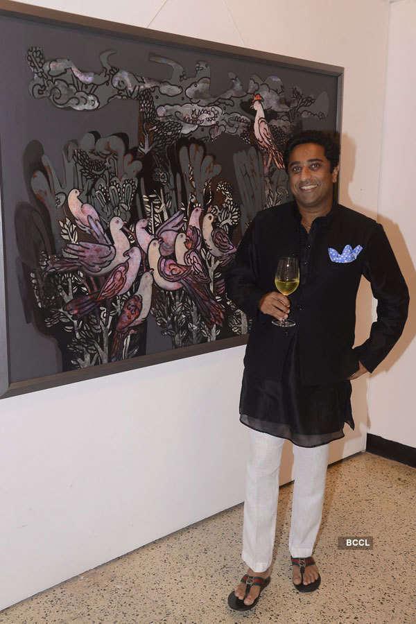 Shobha De attends an art show