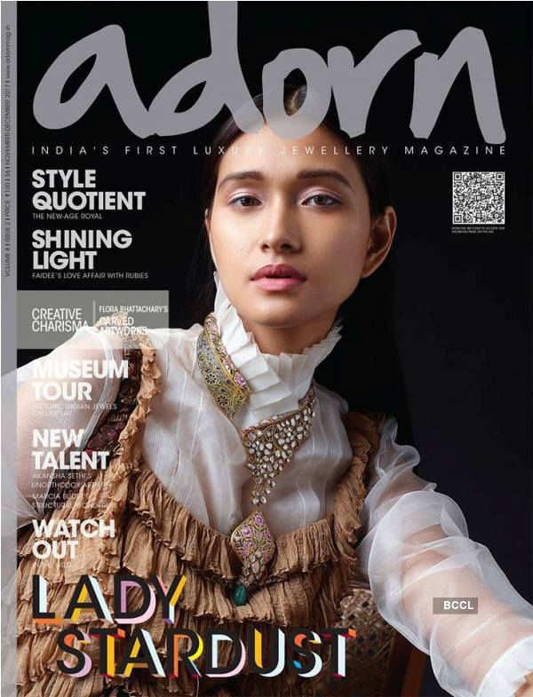 "Aradhana Buragohain's unique jewellery shoot for ""Adorn Magazine"""