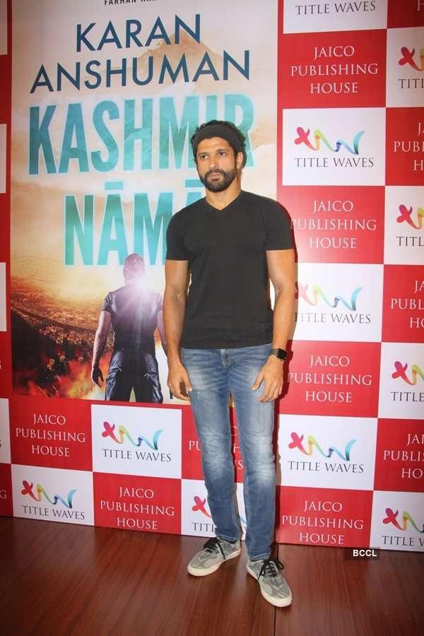 Farhan Akhtar at Kashmirnama launch