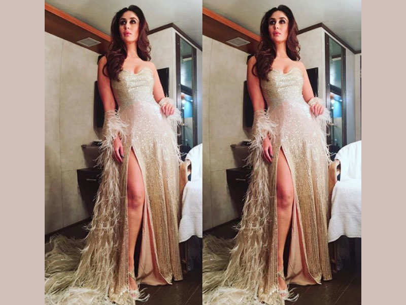 Pic: Kareena Kapoor Khan ups the glam quotient in a golden gown