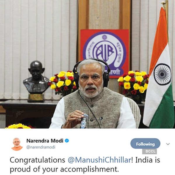 Celebrities congratulate Miss World 2017 Manushi Chhillar