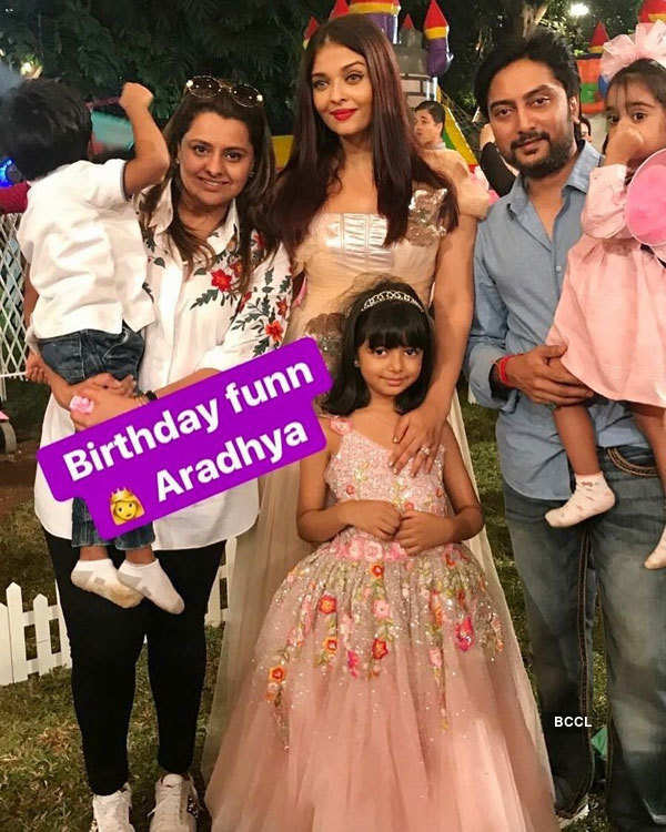 Star kids enjoy at Aaradhya Bachchan's birthday party