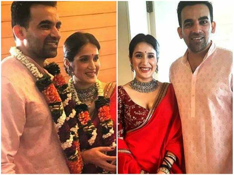 Sagarika Ghatge And Zaheer Khan Look Adorable Together In Their First Wedding Picture