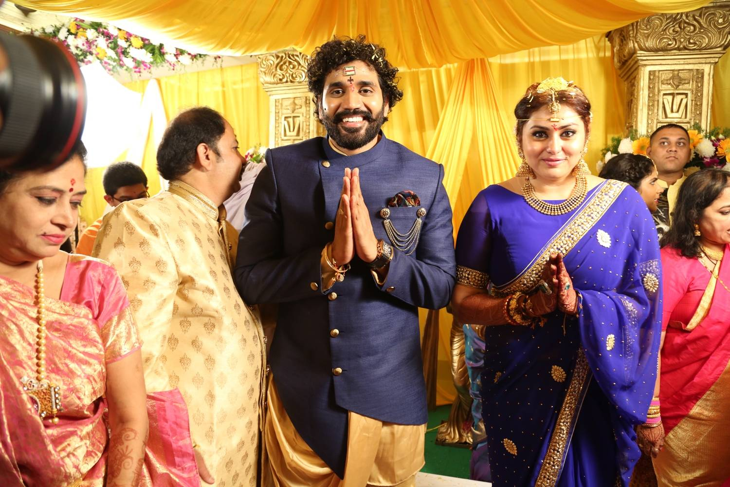 Bigg Boss Contestent Namitha Marriage Images