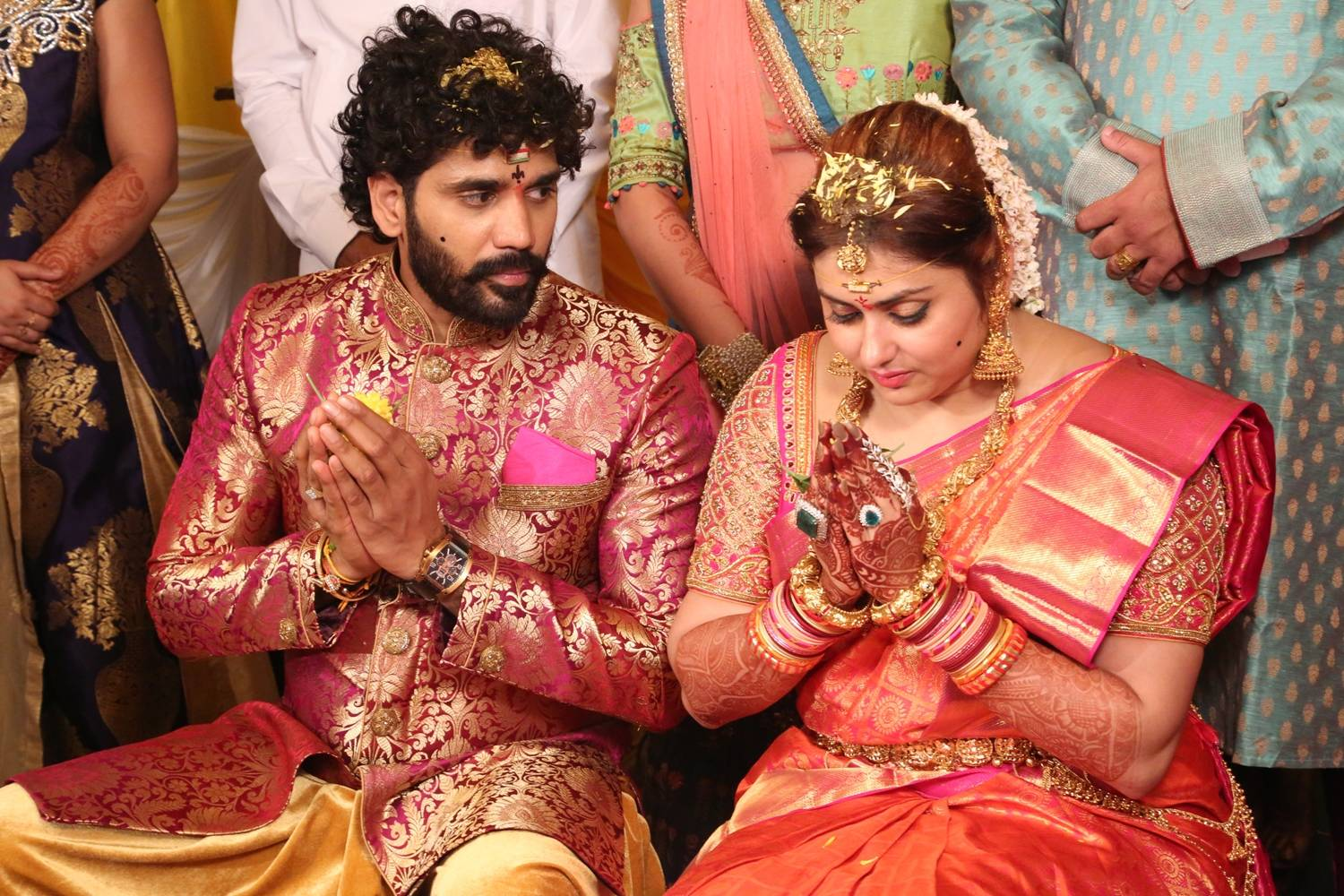 Veerandra and Namitha Marriage Images