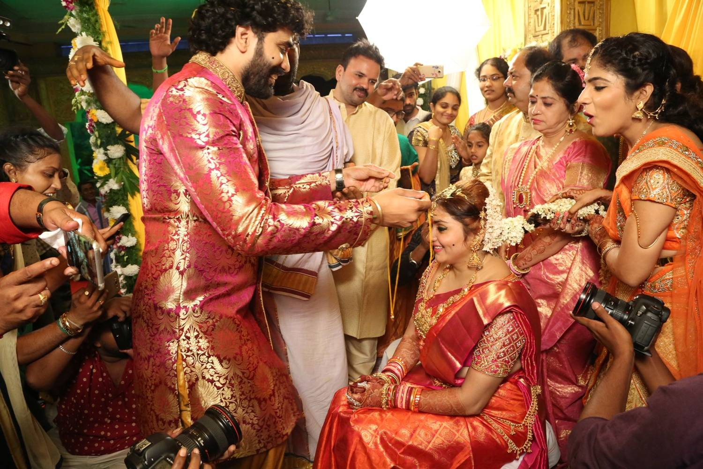 Veerandra and Namitha Wedding Images