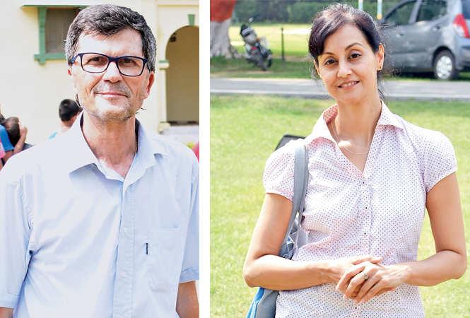 Richard Franco and Divya Sharma (BCCL/ Farhan Ahmad Siddiqui)