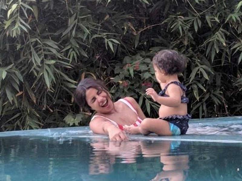 Image result for Priyanka and her niece Krishna