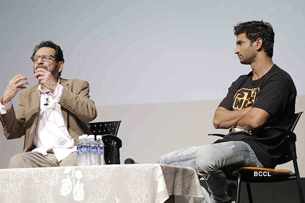 Sushant attends Shekhar Kapur's masterclass