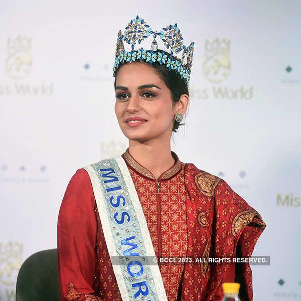 Miss World 2017 Manushi Chhillar's press meet