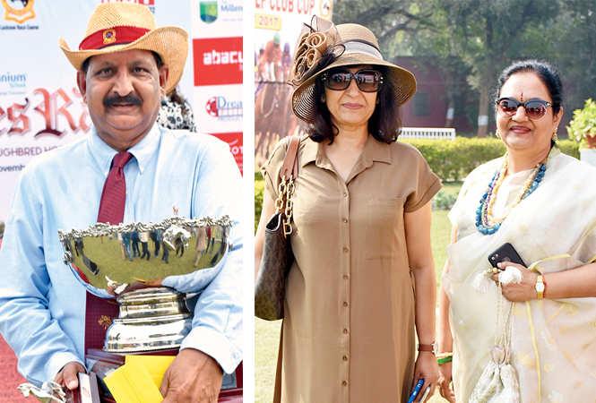 (L) Kumail Yawar Hasan (R) Madhuri Halwasiya and Hema Lata  (BCCL/ Vishnu Jaiswal)