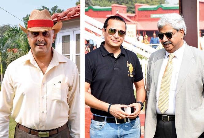 (L) Maj Gen NJ George (R) Raj Shekhar and Brig Dinesh Sharma (BCCL/ Vishnu Jaiswal)