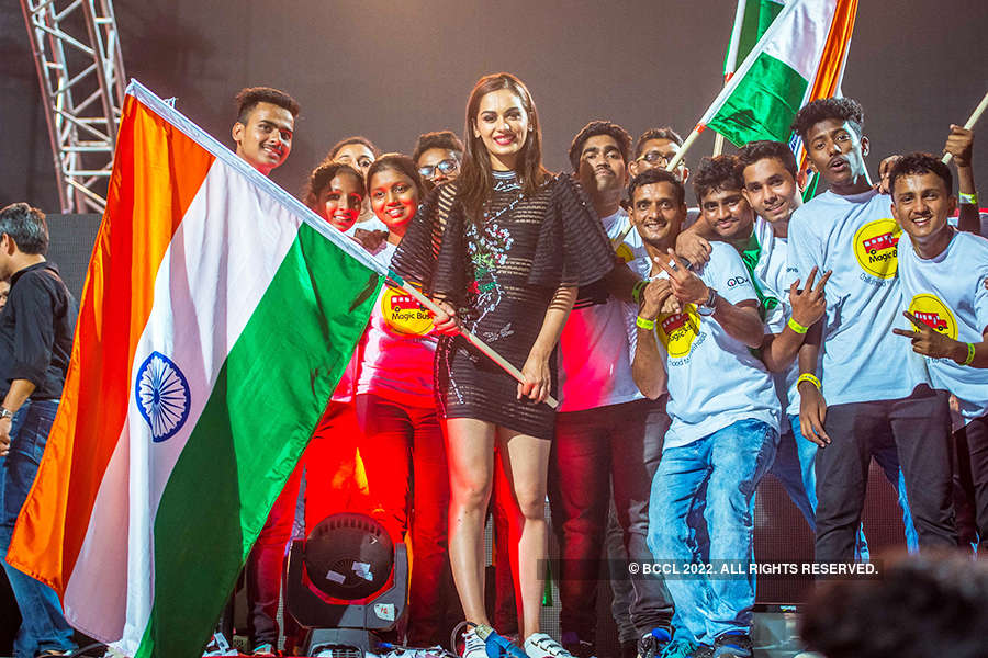 Miss World 2017 Manushi Chhillar at Hardwell concert