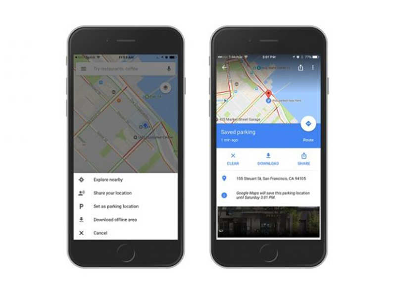 Remember where you parked your car using Google Maps