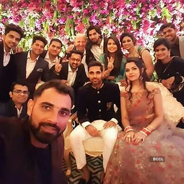 Virat Kohli, Shikhar Dhawan and Team India attend Bhuvneshwar Kumar's wedding reception