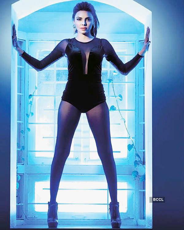 Sherlyn Chopra poses during photoshoot