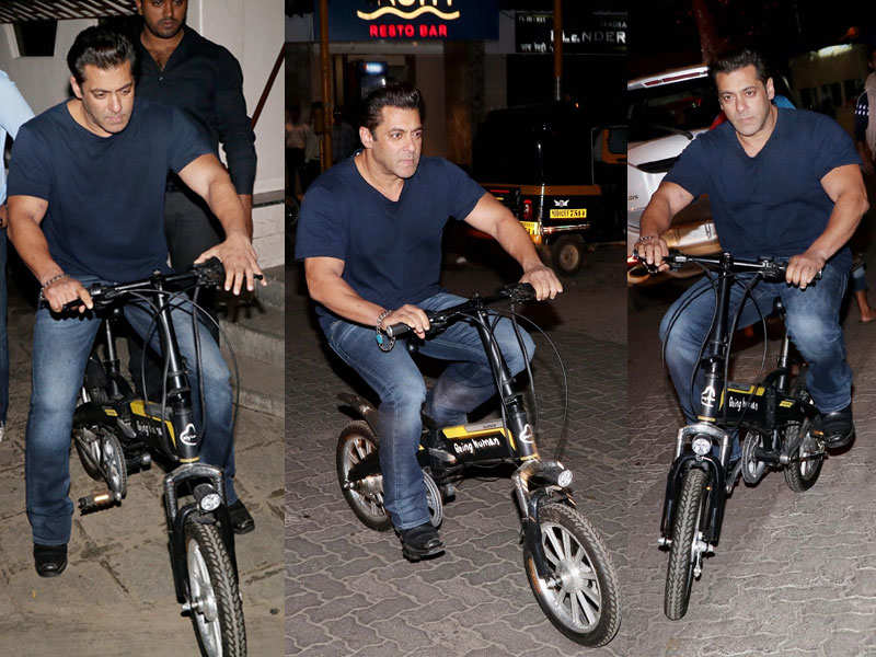 27a22b6e038 Pics: Salman Khan takes his new bike for a spin